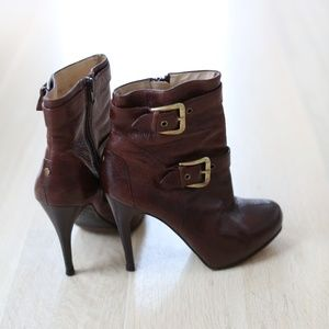 Brown Leather Boot Heel